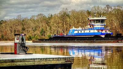 Photograph - Charles Haun Tugboat On The Tombigbee by Lanita Williams