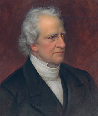 Charles Hodge Art Print by Rembrandt Peale