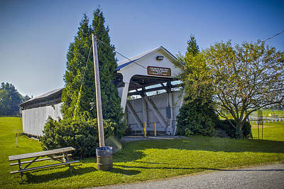 Photograph - Charles Holiday Covered Bridge by Jack R Perry