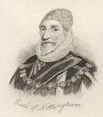 Howard Drawing - Charles Howard 1st Earl Of Nottingham by Vintage Design Pics