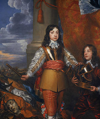 British Royalty Painting - Charles II, 1630 - 1685. King Of Scots 1649 - 1685. King Of England And Ireland 1660 - 1685 by William Dobson