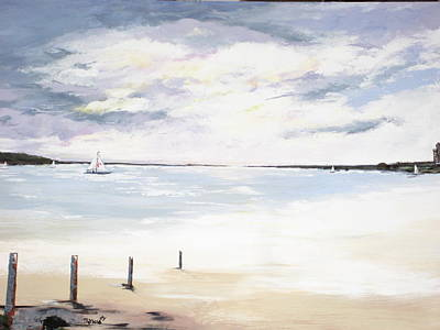 Charles Island At Low Tide Art Print by Marcia Crispino
