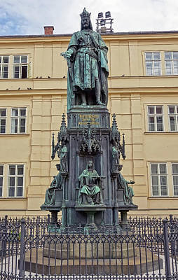 Photograph - Charles Iv Statue In Prague, Czech Republic by Richard Rosenshein