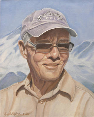 Baseball Cap Painting - Charles Kelsoe by Kenneth Kelsoe