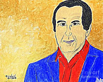 Painting - Charles Krauthammer Red White And Blue by Richard W Linford