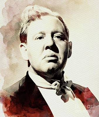Musicians Royalty-Free and Rights-Managed Images - Charles Laughton, Vintage Actor by John Springfield