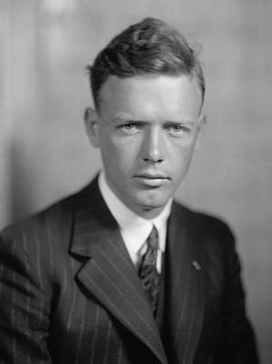 Charles Lindbergh 1902-1974 American Art Print by Everett