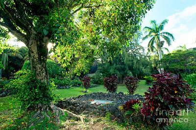 Photograph - Charles Lindbergh Grave Palapala Hoomau Church Kipahulu Maui Hawaii by Sharon Mau