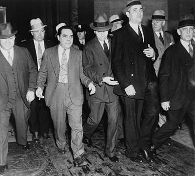 Photograph - Charles Lucky Luciano In Center by Everett