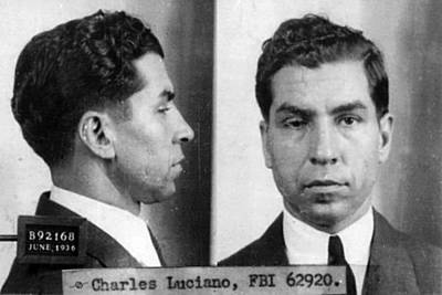 Police Art Painting - Charles Lucky Luciano Mug Shot 1931 Horizontal by Tony Rubino