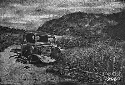 Death Valley Drawing - Charles Manson Power Wagon by Jennifer Gerke