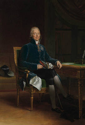 Painting - Charles Maurice De Talleyrand Perigord by Francois Gerard