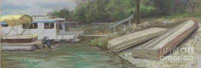 Charles Mill Lake - Boats Art Print by Terri  Meyer