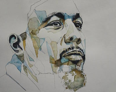 Jazz Legends Wall Art - Painting - Charles Mingus Art by Paul Lovering