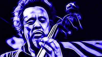 Bass Mixed Media - Charles Mingus Collection by Marvin Blaine