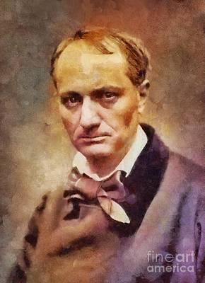 Literature Painting - Charles Pierre Baudelaire, Literary Legend by Sarah Kirk