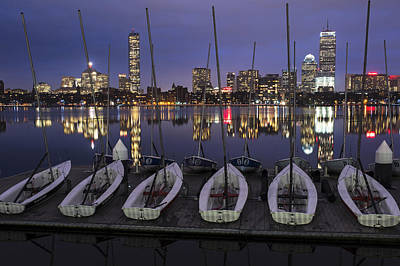 Photograph - Charles River Boats Clear Water Reflection by Toby McGuire
