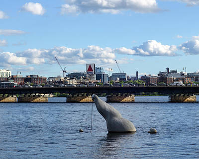 Photograph - Charles River Boston Ma Crossing The Charles Citgo Sign Mass Ave Bridge by Toby McGuire