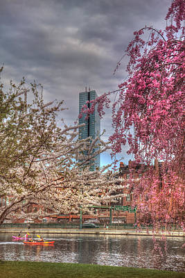 Spring Scenes Photograph - Charles River Esplanade - Boston by Joann Vitali
