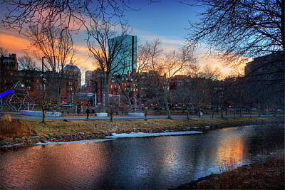 Photograph - Charles River Esplanade Sunset - Boston by Joann Vitali