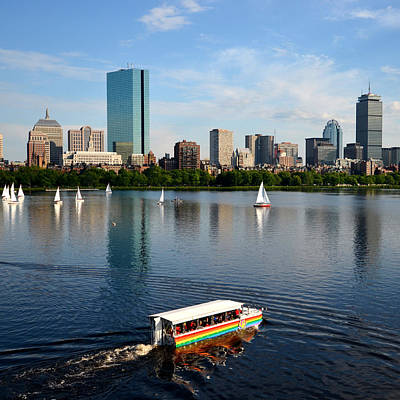 Photograph - Charles River Four Seasons Summer Rainbow Duck Boat by Toby McGuire