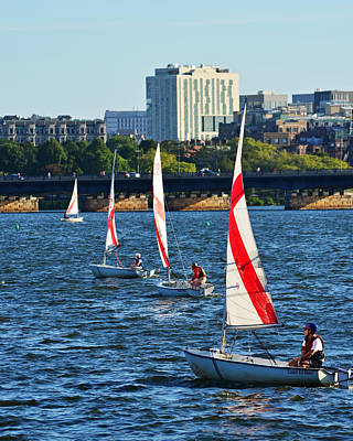 Photograph - Charles River Line Of Boats by Toby McGuire