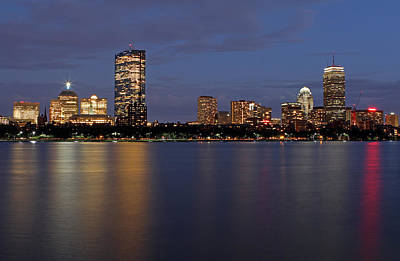 Photograph - Charles River Skyline by Juergen Roth