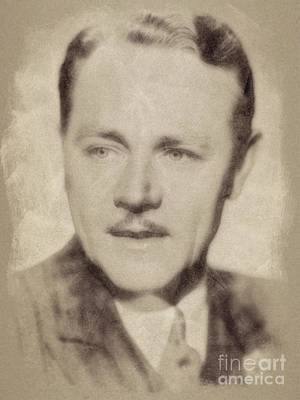 Musicians Drawings Rights Managed Images - Charles Ruggles, Vintage Actor by John Springfield Royalty-Free Image by Esoterica Art Agency