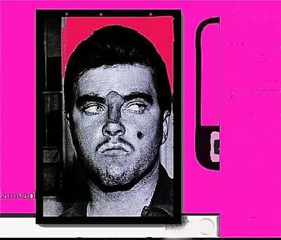 Charles Smitty Schmid Arrest Photo With Makeup Collage  Tucson Arizona 1965-2008 Art Print