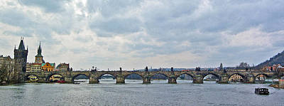Vltava River Digital Art - Charles Street Bridge by Paul Pobiak