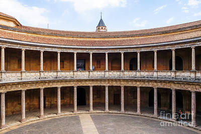 Photograph - Charles V  Palace Alhambra Granada by Perry Van Munster