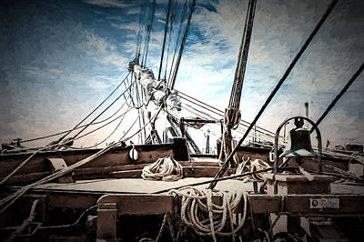 Bedford Digital Art - Charles W. Morgan - Bow - Painted by Black Brook Photography