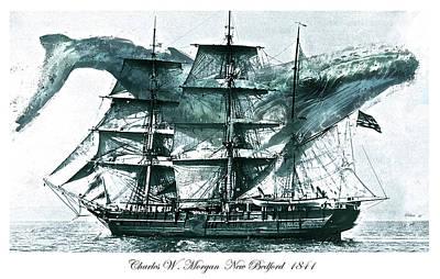 Charles W. Morgan, Whaling Ship, 1841 Art Print