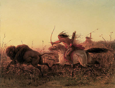 Horse And Grass Painting - Charles Wimar  by Charles Wimar
