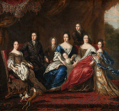 Painting - Charles Xi's Family With Relatives From The Duchy Holstein-gottorp by David Klocker Ehrenstrahl