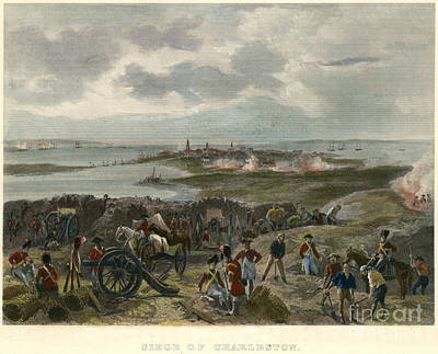Continental Army Drawing - Charleston 1780 by Granger