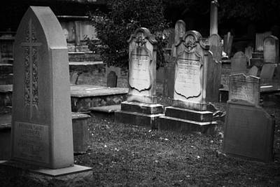 Old Photograph - Charleston 2 Headstones by J Darrell Hutto