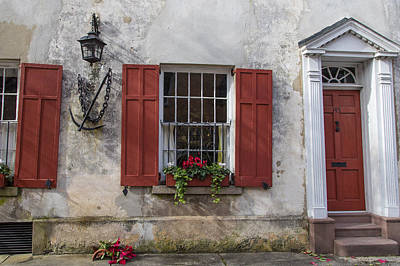 Photograph - Charleston Anchor And Doorway by John McGraw