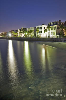 Charleston Battery Row At Dawn Art Print