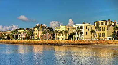 Photograph - Charleston Battery Row Of Homes  by Dustin K Ryan