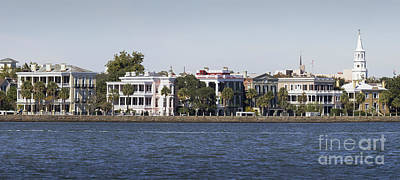 Photograph - Charleston Battery Row Panorama 2 by Dustin K Ryan