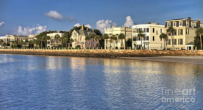 Water Reflections Digital Art - Charleston Battery Row South Carolina  by Dustin K Ryan