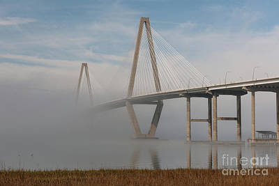 Photograph - Charleston Bridge Fog by Dale Powell