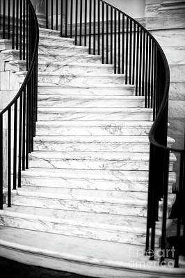 Photograph - Charleston City Hall Stairs by John Rizzuto