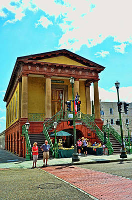 Photograph - Charleston City Market Front Entrance by Allen Beatty