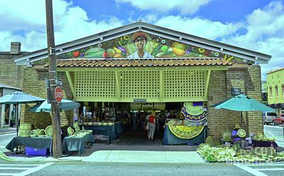 Photograph - Charleston City Market Rear Entrance by Allen Beatty