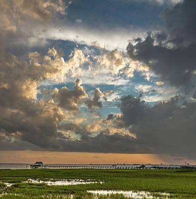 Photograph - Charleston Coast Cloud Break by Donnie Whitaker