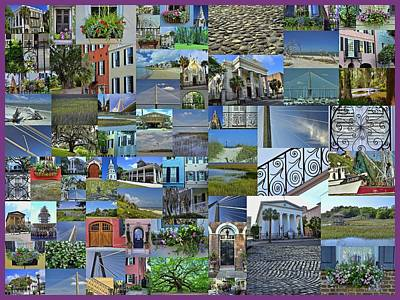 Photograph - Charleston Collage 1 by Allen Beatty