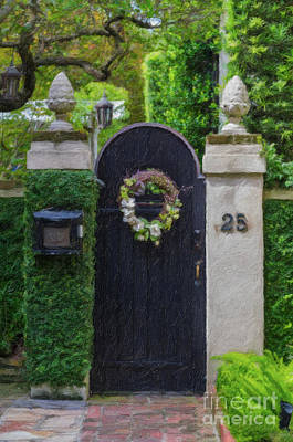 Photograph - Charleston Courtyard Entrance by Dale Powell