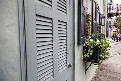 Photograph - Charleston Door And Flower Pot 2 by John McGraw